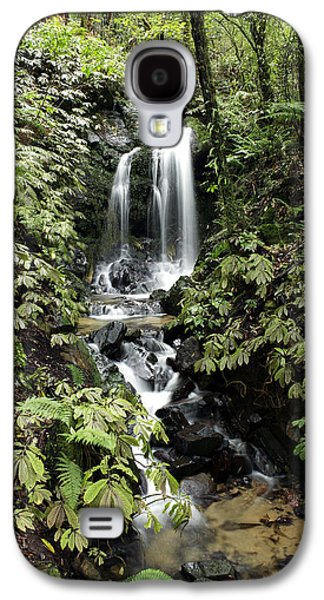 Spring Scenery Galaxy S4 Cases - Waterfall Galaxy S4 Case by Les Cunliffe