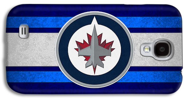 Jets Galaxy S4 Cases - Winnipeg Jets Galaxy S4 Case by Joe Hamilton