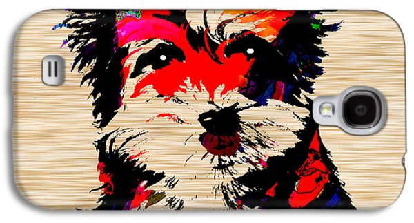 Portrait Galaxy S4 Cases - Yorkshire Terrier Galaxy S4 Case by Marvin Blaine