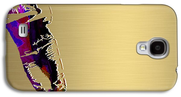 Bruce Springsteen Galaxy S4 Cases - Bruce Springsteen Gold Series Galaxy S4 Case by Marvin Blaine