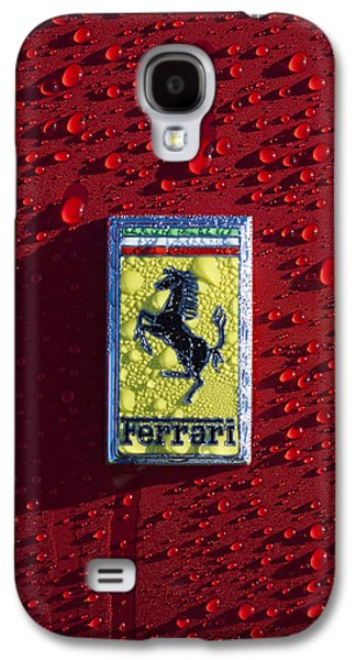 Automobiles Photographs Galaxy S4 Cases - Ferrari Emblem Galaxy S4 Case by Jill Reger
