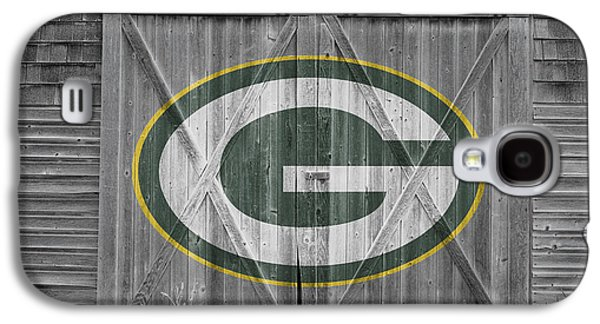 Barn Doors Galaxy S4 Cases - Green Bay Packers Galaxy S4 Case by Joe Hamilton