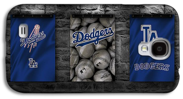 Baseball Uniform Galaxy S4 Cases - Los Angeles Dodgers Galaxy S4 Case by Joe Hamilton