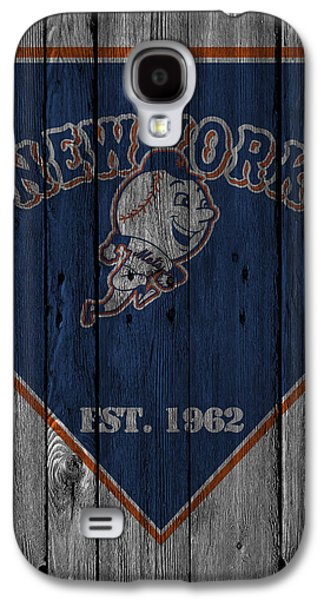 Barn Doors Galaxy S4 Cases - New York Mets Galaxy S4 Case by Joe Hamilton