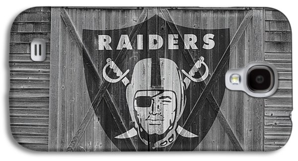 Barn Doors Galaxy S4 Cases - Oakland Raiders Galaxy S4 Case by Joe Hamilton