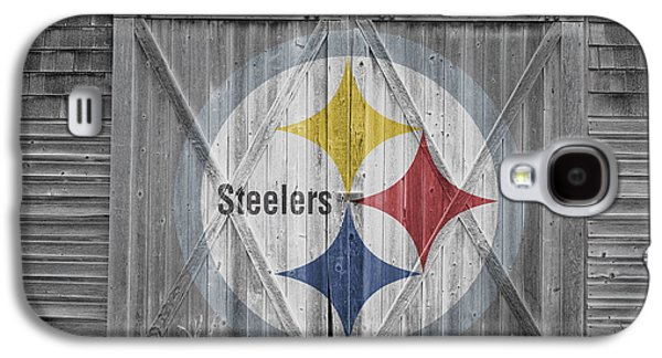 Barn Doors Galaxy S4 Cases - Pittsburgh Steelers Galaxy S4 Case by Joe Hamilton