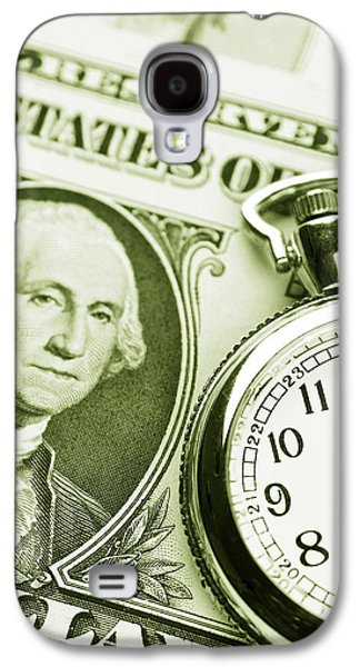 Money Galaxy S4 Cases - Time is money Galaxy S4 Case by Les Cunliffe