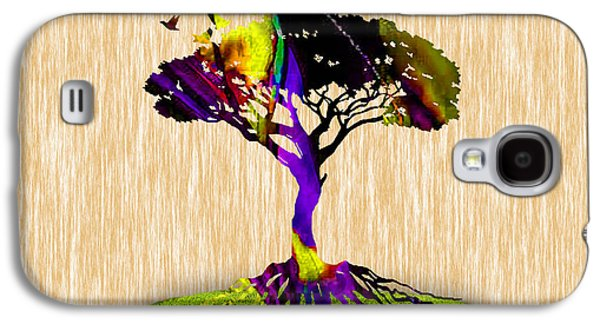 Bird Galaxy S4 Cases - Tree Of Life Painting Galaxy S4 Case by Marvin Blaine
