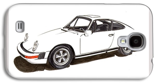 Suspension Drawings Galaxy S4 Cases - 911 White on White 1978 Porsche Galaxy S4 Case by Jack Pumphrey