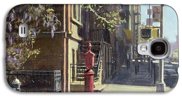 Manhattan Street Galaxy S4 Cases - 91st Street At Lexington Avenue Oil On Canvas Galaxy S4 Case by Julian Barrow