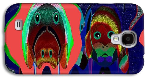 Dog Greeting Cards Digital Galaxy S4 Cases - 984 - Alien doggies Galaxy S4 Case by Irmgard Schoendorf Welch