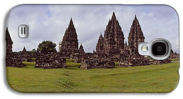 Civilization Galaxy S4 Cases - 9th Century Hindu Temple Prambanan Galaxy S4 Case by Panoramic Images