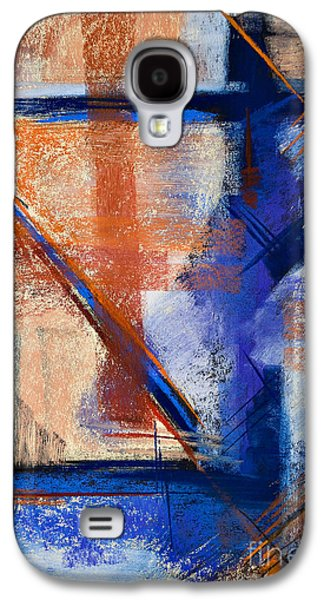 Contemporary Abstract Pastels Galaxy S4 Cases - Feather Weight Galaxy S4 Case by Tracy L Teeter