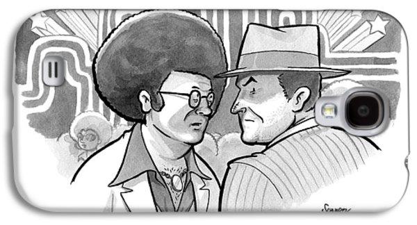 A 70's Disco Man Speaks To Jack Nicholson's Galaxy S4 Case by Benjamin Schwartz