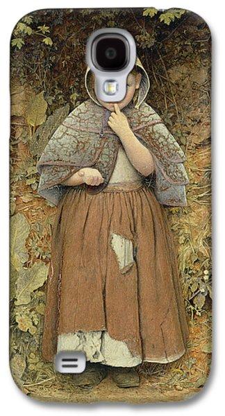 Girl Galaxy S4 Cases - A Beggar On The Path, 1856 Oil On Canvas Galaxy S4 Case by Edward Thompson Davis