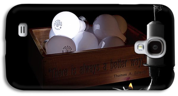 Candle Stand Galaxy S4 Cases - A Better Way Still Life - Thomas Edison Galaxy S4 Case by Tom Mc Nemar