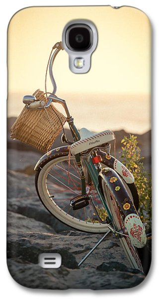 Beach Landscape Galaxy S4 Cases - A Bike and Chi Galaxy S4 Case by Peter Tellone
