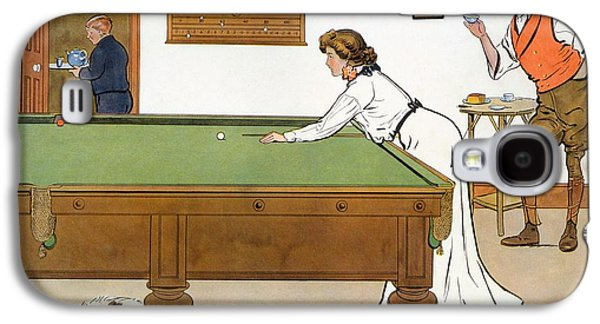 A Billiards Match Galaxy S4 Case by Lance Thackeray