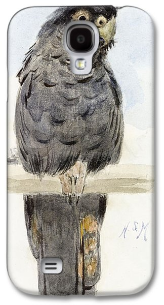 Talons Paintings Galaxy S4 Cases - A Black Cockatoo Galaxy S4 Case by Henry Stacey Marks