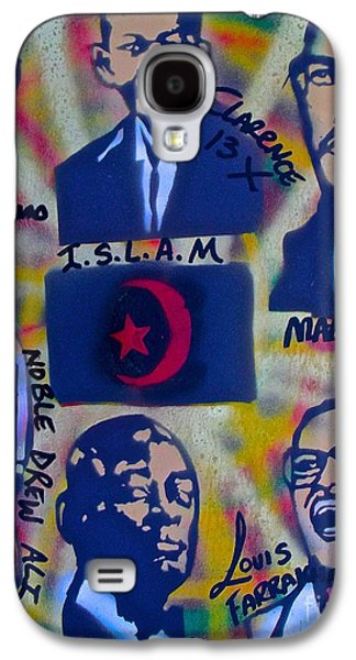 Clarence Paintings Galaxy S4 Cases - A Black Nation Of Islam Galaxy S4 Case by Tony B Conscious