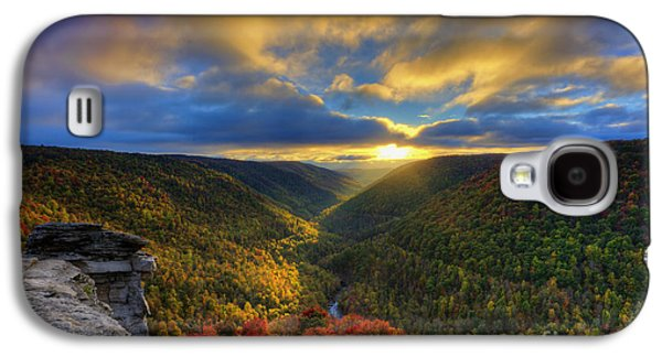 Dan Friend Galaxy S4 Cases - A blue and gold sunset Galaxy S4 Case by Dan Friend
