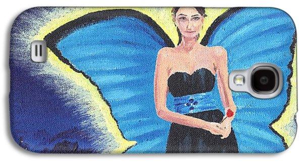 Strapless Dress Galaxy S4 Cases - A Blue Fairy Galaxy S4 Case by Glenn Harden