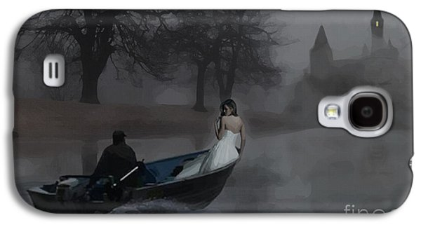 Girl Galaxy S4 Cases - A Boat in the Fog Galaxy S4 Case by Joseph Juvenal