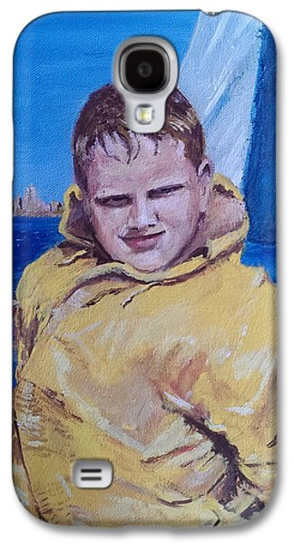 Jack Skinner Galaxy S4 Cases - A Boy on a Boat Galaxy S4 Case by Jack Skinner