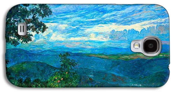 Mountain Paintings Galaxy S4 Cases - A Break in the Clouds Galaxy S4 Case by Kendall Kessler