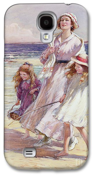On The Beach Galaxy S4 Cases - A Breezy Day at the Seaside Galaxy S4 Case by William Kay Blacklock