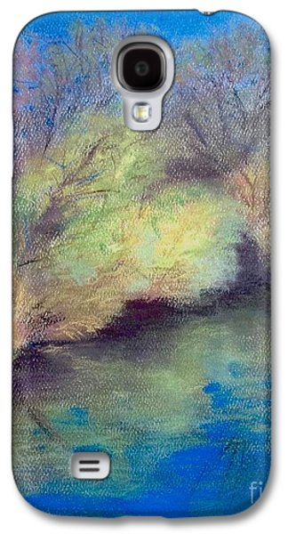 Waterscape Pastels Galaxy S4 Cases - A Bright Day At Sharon Mills-manchester Mi  Galaxy S4 Case by Yoshiko Mishina