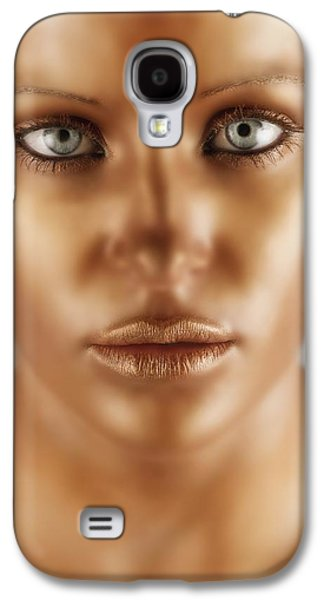 Statue Portrait Galaxy S4 Cases - A Bronze Face Galaxy S4 Case by Darren Greenwood