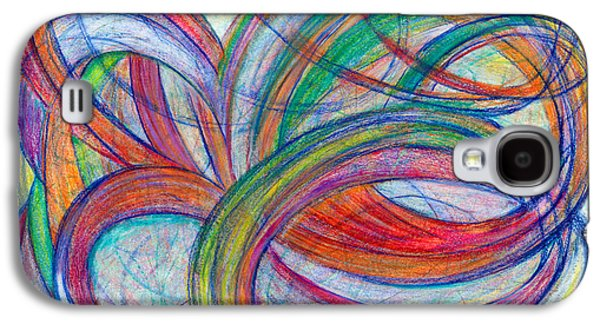 Abstract Movement Drawings Galaxy S4 Cases - A By-Product Galaxy S4 Case by Kelly K H B
