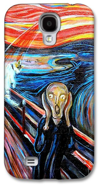 A Cat For Edvard Munch_ Annie Passing Through Galaxy S4 Case by George I Perez