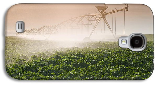 Machinery Galaxy S4 Cases - A Center Pivot Irrigation System Galaxy S4 Case by Dave Reede