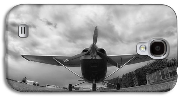 Ground Level Galaxy S4 Cases - A Cessna in Fisheye Galaxy S4 Case by Mountain Dreams