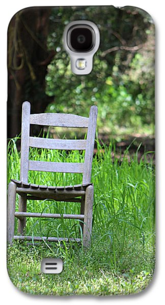Ladder Back Chairs Galaxy S4 Cases - A Chair in the Grass Galaxy S4 Case by Lynn Jordan