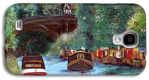 Water Vessels Paintings Galaxy S4 Cases - A Cheshire Canal Remembered Galaxy S4 Case by Isabella F Abbie Shores LstAngel Arts