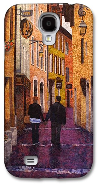 Architecture Tapestries - Textiles Galaxy S4 Cases - A City Walk in Spring Galaxy S4 Case by Lenore Crawford