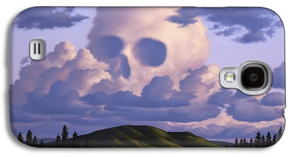 Rowboat Digital Art Galaxy S4 Cases - A Cloud Formation Depicting A Skull Galaxy S4 Case by Jerry LoFaro