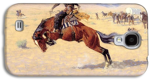 Remington Digital Galaxy S4 Cases - A Cold Morning on The Range  Galaxy S4 Case by Frederic Remington