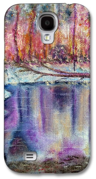 Winter Scene Pastels Galaxy S4 Cases - A Cold Winters Pond Galaxy S4 Case by Callan Percy