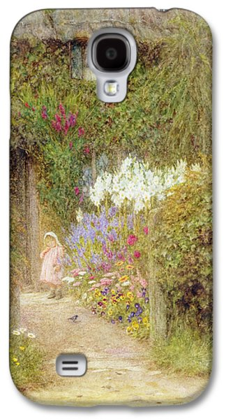 Pathways Paintings Galaxy S4 Cases - A cottage at Redlynch Galaxy S4 Case by Helen Allingham