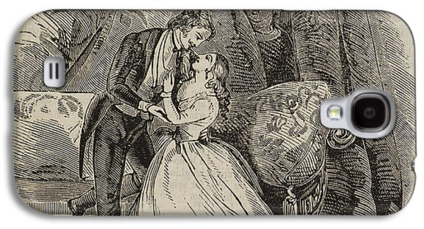A Couple Embracing Galaxy S4 Case by British Library