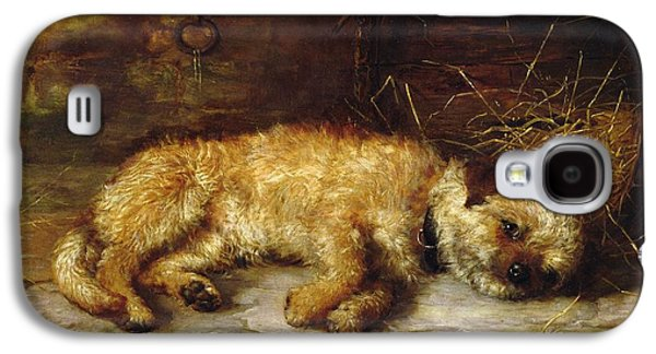 Dog Paintings Galaxy S4 Cases - A Dandie Dinmont Galaxy S4 Case by Philip Eustace Stretton