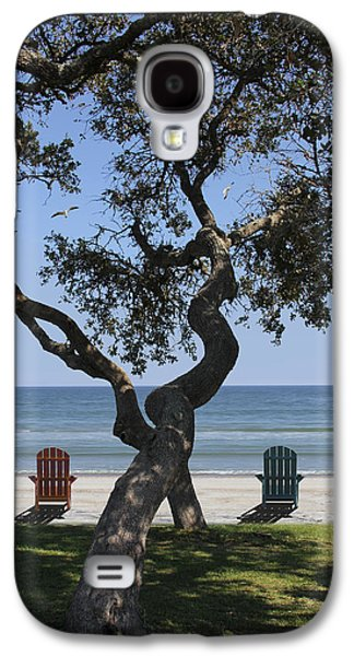 Seascape Digital Galaxy S4 Cases - A Day at the Beach Galaxy S4 Case by Mike McGlothlen