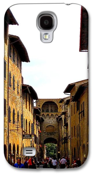 Sienna Italy Galaxy S4 Cases - A Day In Sienna Italy Galaxy S4 Case by Margaret Glenn