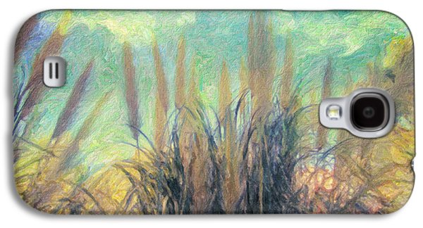Field. Cloud Paintings Galaxy S4 Cases - A Day in Summer Galaxy S4 Case by Taylan Soyturk