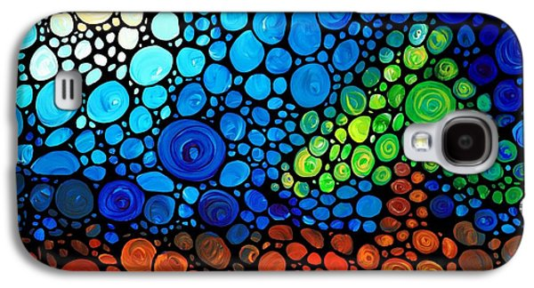 """abstract Landscape"" Galaxy S4 Cases - A Day To Remember - Mosaic Landscape by Sharon Cummings Galaxy S4 Case by Sharon Cummings"