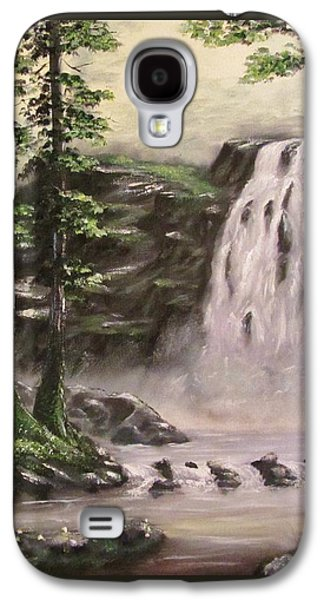 Bob Ross Paintings Galaxy S4 Cases - A Thunderous Hush Galaxy S4 Case by Gavin Kutil